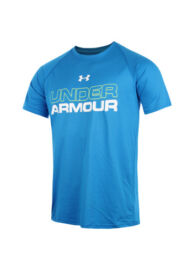 Under Armour 1248598 405 Férfi tenisz póló felirattal