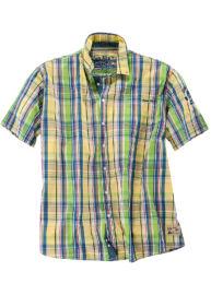 Kitaro 15174112 308 Férfi világoszöld-zöld kockás rövid ujjú ing