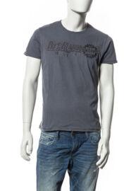 Devergo' 1D514038SS0106 férfi basic feliratos póló szürke