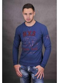 No Excess 54 120821 096 hosszú ujjú férfi kékes-lilás póló