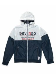 Devergo 1D913011KA1600 1 Férfi regular fit kék-fehér kapucnis széldzseki