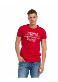Devergo 1d914064SS0105 39 Férfi regular fit piros póló