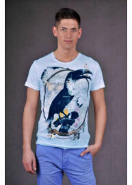 Antony Morato MKS001100 7013 FA100025 Férfi kék póló