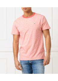 Tommy Hilfiger DM0DM06064 667 Férfi regular fit rózsaszín melange póló