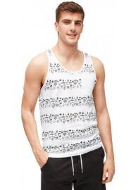 Tom Tailor 1003817 00 12 12772 Férfi fehér-fekete mintás trikó
