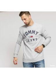 Tommy Hilfiger dm0dm07024 P01 Férfi regular fit világosszürke pulóver