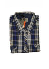 Twinlife MSH 251600 Férfi kék színű kockás rövidujjú ing