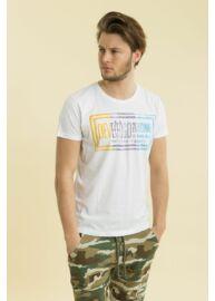 Devergo 1D714000SS0101 1 Fehér rövid ujjú férfi kerek nyakú póló