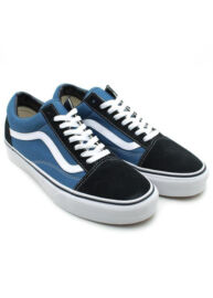 Vans VN0D3HNVY Old Skool Férfi Sötétkék-kék hasított bőr utcai cipő