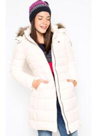 Tommy Hilfiger 1657641799 003 Steppelt fehér kabát Méret: XL