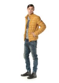 Devergo 1D723040KA1600 50 Férfi mustársárga átmeneti kabát