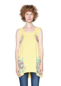 Desigual Női sárga felsők, blúzok és trikók