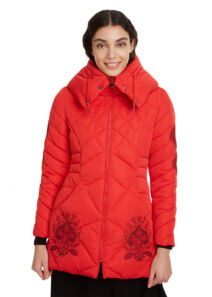 Desigual Női piros télikabátok