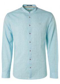 No Excess Férfi világoskék lenvászon ingek