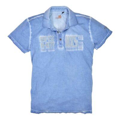 No Excess 72 350347 137 kék férfi galléros póló