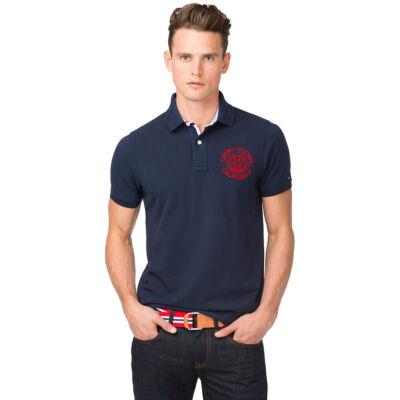 Tommy Hilfiger 0887849174 416 sötétkék galléros férfi póló