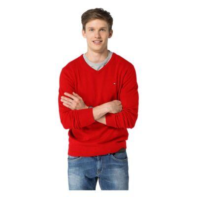 Tommy Hilfiger 0857883738 139 Piros Kötött Pulóver.