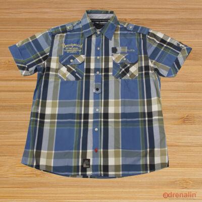 Twinlife msh 211634 Kék kockás férfi ing