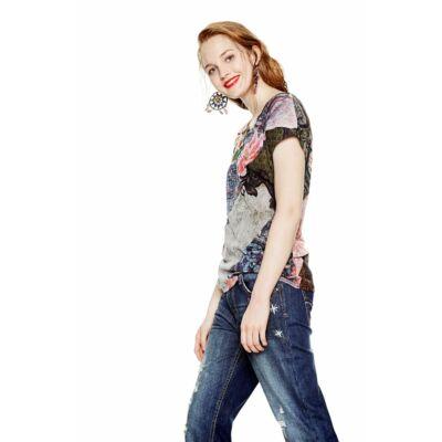 Desigual 18SWTKFS 3015 mintás női póló