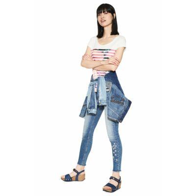 Desigual 18SWTKI9 1004 Im Blue mintás női póló