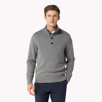 Tommy Hilfiger 0857883721 043 férfi Szürke kötött pulóver