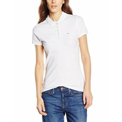 Tommy Hilfiger 1657665165 100 Női fehér piké galléros póló