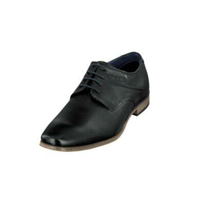 Bugatti 312 42003 1000 1000 Fekete elegáns férfi cipő