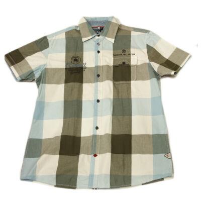 Twinlife msh 111660 Kék kockás férfi ing
