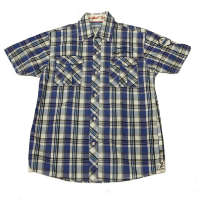 Twinlife 911633 Cobalt kék kockás férfi ing
