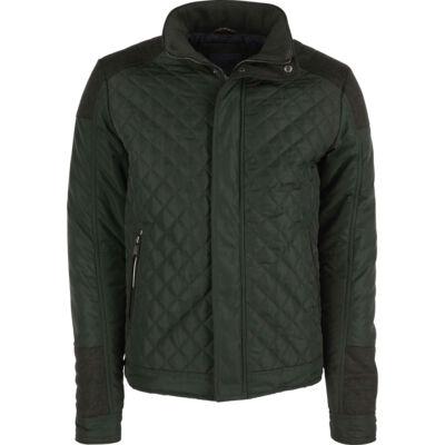 No Excess 82 630805 059 katonai zöld steppelt kabát