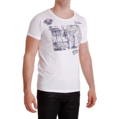 Devergo 1D414015SS0101 férfi kör nyakú fehér póló