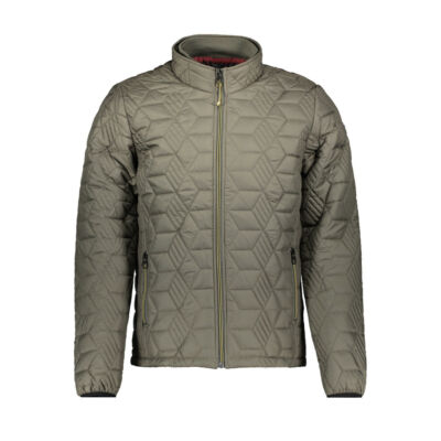 No Excess 87 630818 124 Férfi sötétzöld steppelt kabát
