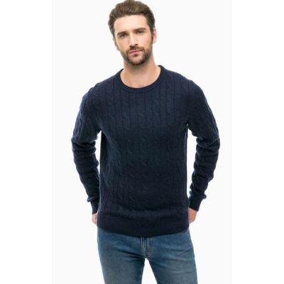 Tommy Hilfiger MW0MW03227 031 Sötétkék kötött pulóver