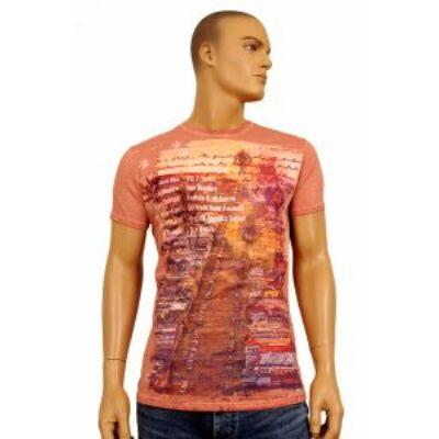 No Excess 76 360205 Világosbarna színű férfi póló