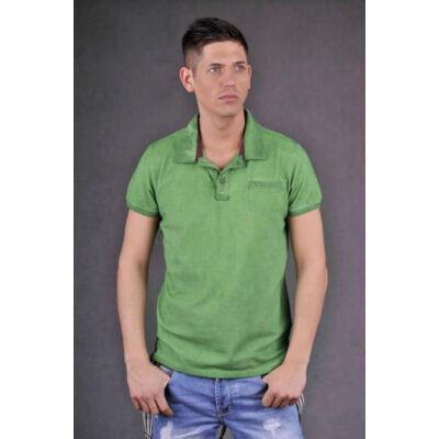 Devergo 4056-22 zöld piké galléros póló