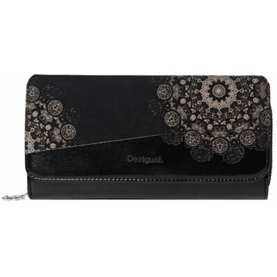 Desigual 19WAYP30 2000 Női nagyméretű fekete pénztárca