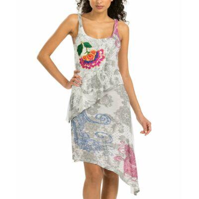 Desigual 51V20P8 1000 Elba fehér mintás női ruha