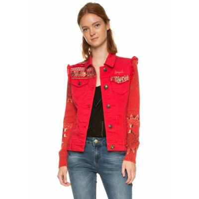 Desigual Női piros átmeneti kabátok