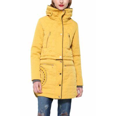 Desigual Női sárga télikabátok