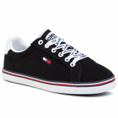 Tommy Hilfiger EN0EN00786 BDS sportos fekete félcipő
