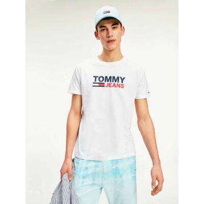 Tommy Hilfiger DM0DM07843 YBR Fehér színű férfi póló