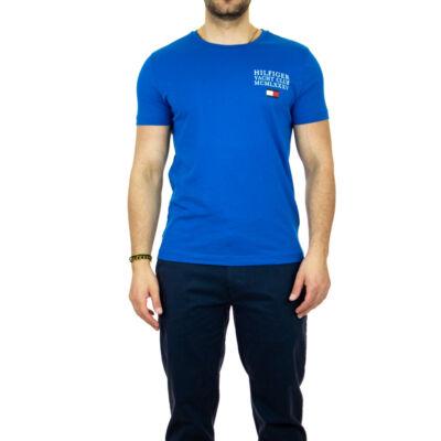 Tommy Hilfiger MW0MW13347 C22 Férfi feliratos kék póló
