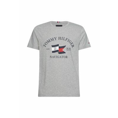 Tommy Hilfiger MW0MW13349 P92 férfi szürke póló