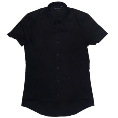 Antony Morato mmss00086 9000 Fa450001 black ruing fekete férfi ing