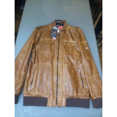 Twinlife MJT 411118 Cognac konyak színű bőrhatású dzseki