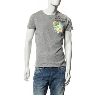 Devergo' 1D514002SS0104 10 Hawaii mintás férfi póló szürke