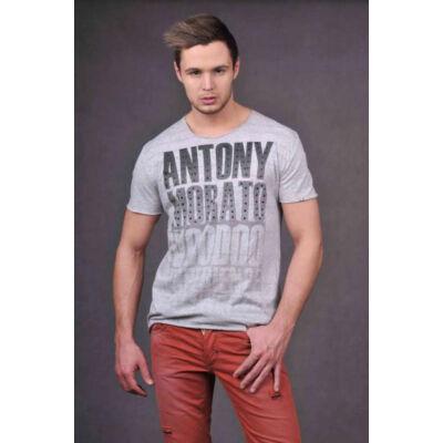 Antony Morato MMKS00021 9003 feliratos férfi póló