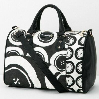 Desigual 56X5LA2 2000 Feket-fehér mintás táska