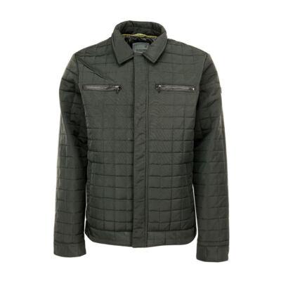 No Excess 87 630807 124 Férfi sötétzöld steppelt kabát