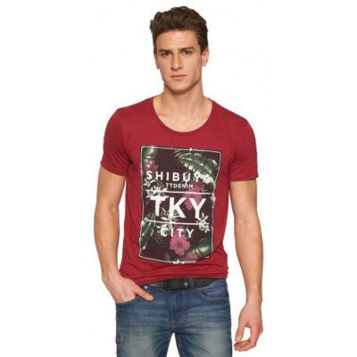 Tom Tailor 1030786 62 12 5496 Bordó férfi póló